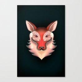 Fox Rabbit Canvas Print