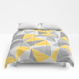 Pattern, grey - yellow Comforters