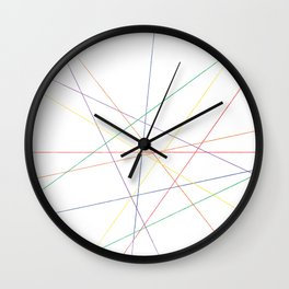 Rainbow Pick Up Sticks Wall Clock