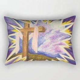 Cross Inside Star Christian Art Rectangular Pillow