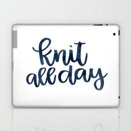Knit All Day - Navy Laptop & iPad Skin