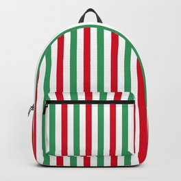Christmas Small Even Stripes Backpack