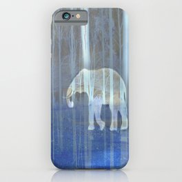 Moonlight with elephant iPhone Case