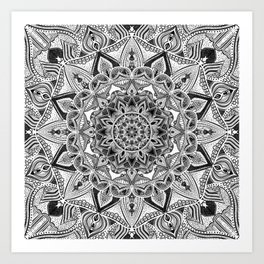 detailed mandala Art Print