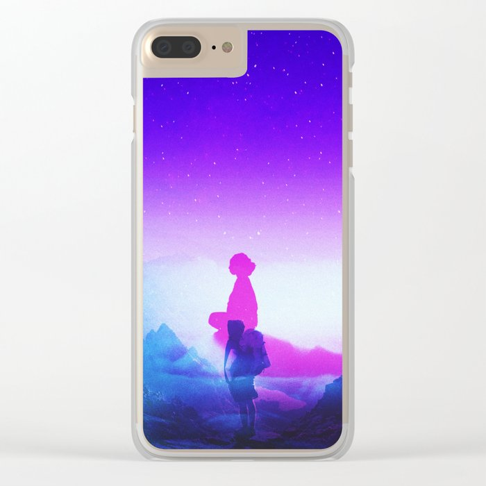 Wonder Never Cease Clear iPhone Case