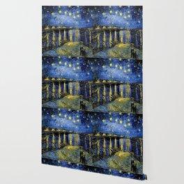 Van Gogh Starry Night Over the Rhône Wallpaper