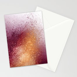 Amber and Maroon Paint Splatter Stationery Cards