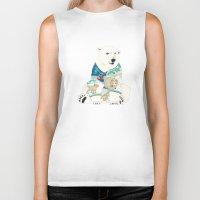 polar bear Biker Tanks featuring Polar Bear by Yuliya