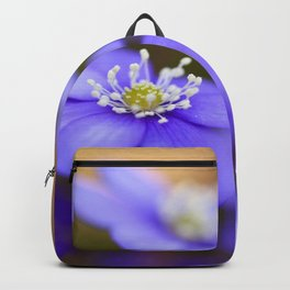 Happy Together Blue Anemones In Forest  Backpack