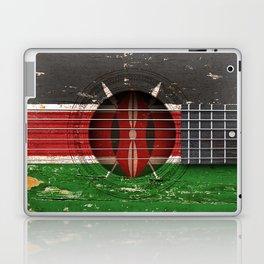 Old Vintage Acoustic Guitar with Kenyan Flag Laptop & iPad Skin