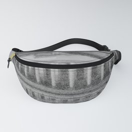 Rainy day in Washington D.C. - Black and white travel photography Fanny Pack