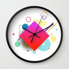 Displaced Geometry Wall Clock
