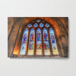Bath Abbey Stained Glass Window Metal Print
