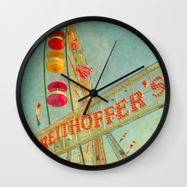Child at Heart carnival ferris wheel circus Wall Clock