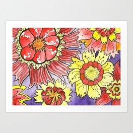 Floral Design 1 Art Print