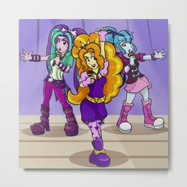 Under Our Spell - The Dazzlings Rock! Metal Print