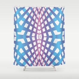 Abstract geometric line design Shower Curtain