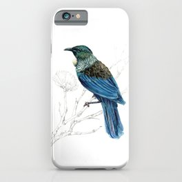 Tui, New Zealand native bird iPhone Case
