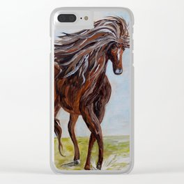 Splashing the Light - Young Horse Clear iPhone Case