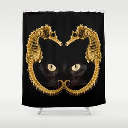 Cat Fish Shower Curtain