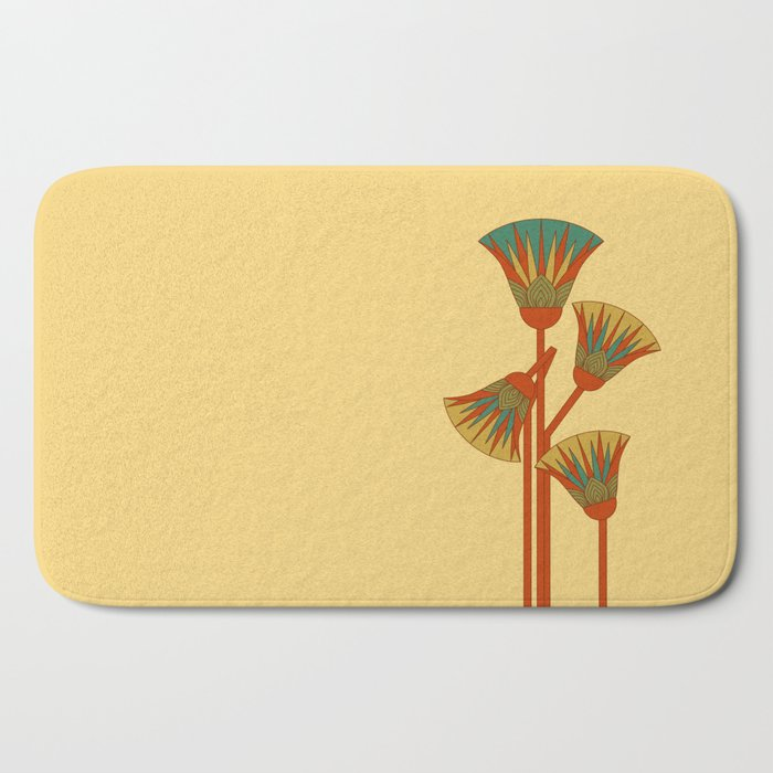 Ancient Egyptian lotus - Colorful Bath Mat