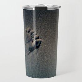 Feet on Sand-Dark Travel Mug