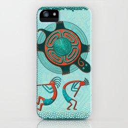 Visitors Anasazi Folk Art iPhone Case