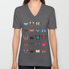 Butterflies Unisex V-Ausschnitt