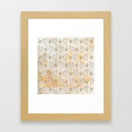 Golden Equine Framed Art Print