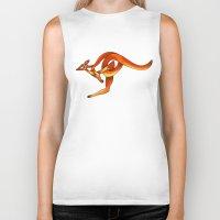 kangaroo Biker Tanks featuring Kangaroo by Knot Your World