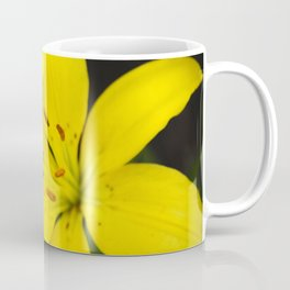 Yellow Lily Flower Coffee Mug