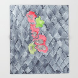 Becoming | 190213 Watercolour Abstract Painting Throw Blanket