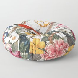 Floral and Birds XXXV Floor Pillow
