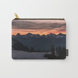 Rising Sun in the Cascades - nature photography Carry-All Pouch