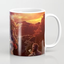 XIV. Temperance Tarot Card Illustration (Color) Coffee Mug