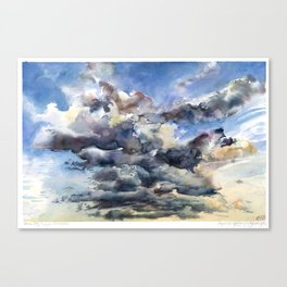 Verdun Sky Sunset Painting - Clouds in Montreal - Nature Cloudscape Canvas Print