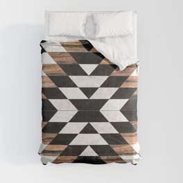 Urban Tribal Pattern No.13 - Aztec - Concrete and Wood Comforters