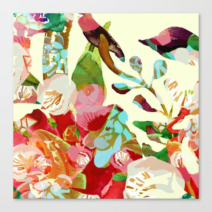 clown floral Canvas Print