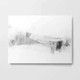 Grey and White Minimalist Geometric Abstract Metal Print