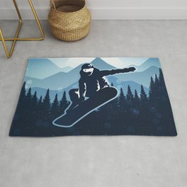 Royal Skiing - Attitude - Ski Snowboard Fly Skyline Rug