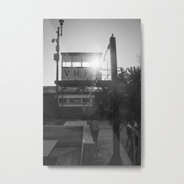Le Touquet in black and white, February Metal Print