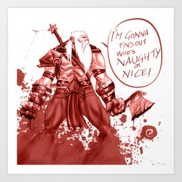 Splatter Santa Art Print