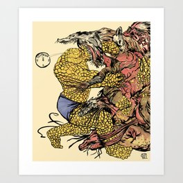 The Thing Vs. The Thing Art Print