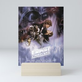 The Empire Strikes Back Movie Poster George Lucas Han Solo Luke Skywalker. Mini Art Print