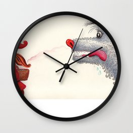 The wolf and the Little Red Riding Hood Wall Clock