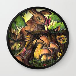 Woodland fairies Wall Clock