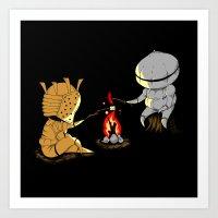 dark souls Art Prints featuring Bonfire Buddies - Dark Souls by Pengew