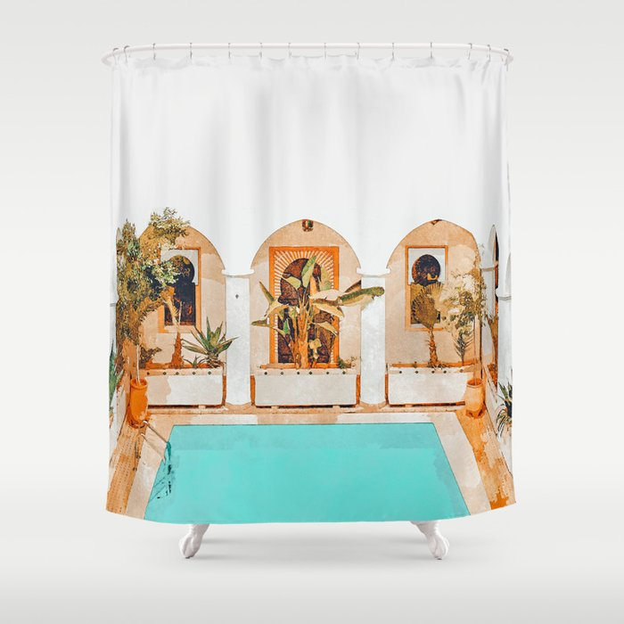 Turkish Holiday #painting #travel Shower Curtain