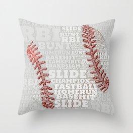 Baseball Dreams and RBIs Throw Pillow