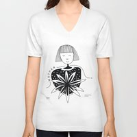 mother V-neck T-shirts featuring Mother by Bhavya Minocha